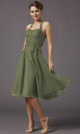 Olive green bridesmaid dress. Perfect style, but needs to be in ...