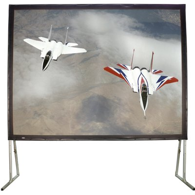 Hamilton Buhl Matte White 110 Diagonal Fixed Frame Projection Screen Wayfair Projection Screen Model Planes Screen