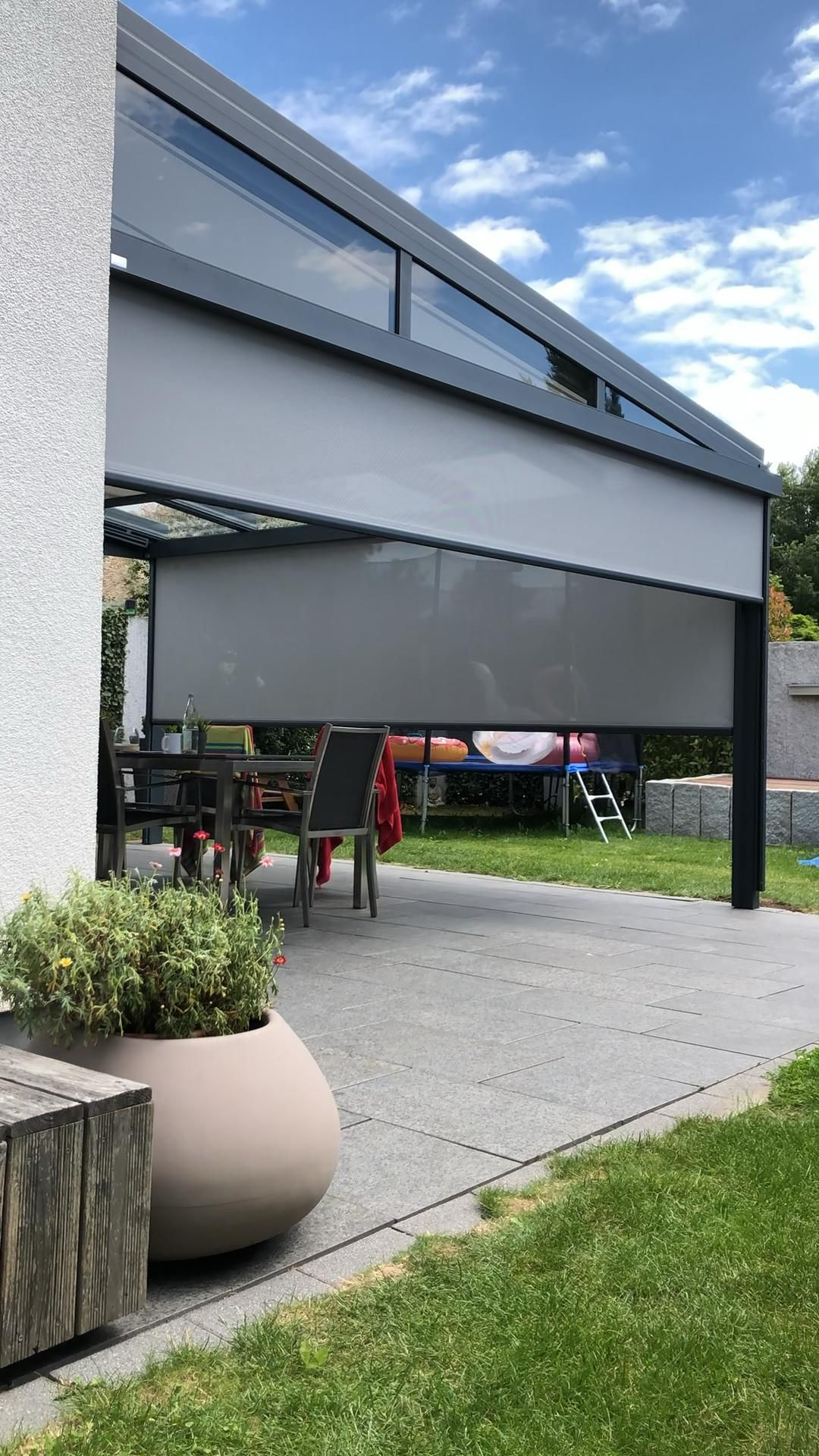 Terrassendach Mit Baschattungen Video En 2020 Techo De Patio Casas De Campo Interiores Diseno De Terraza