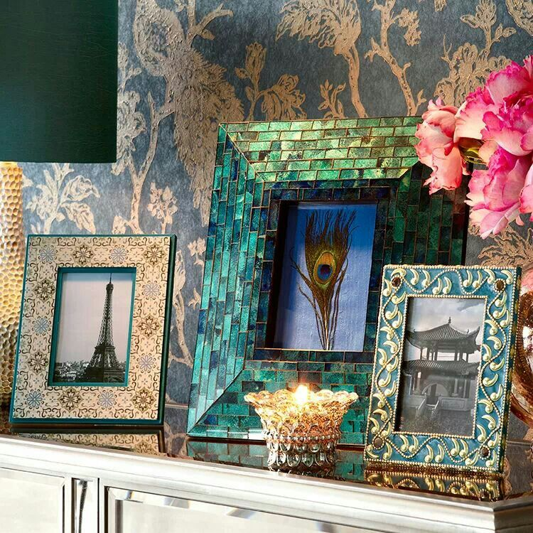 Beautiful picture frames and wallpaper from pier one. | Ocean is the ...