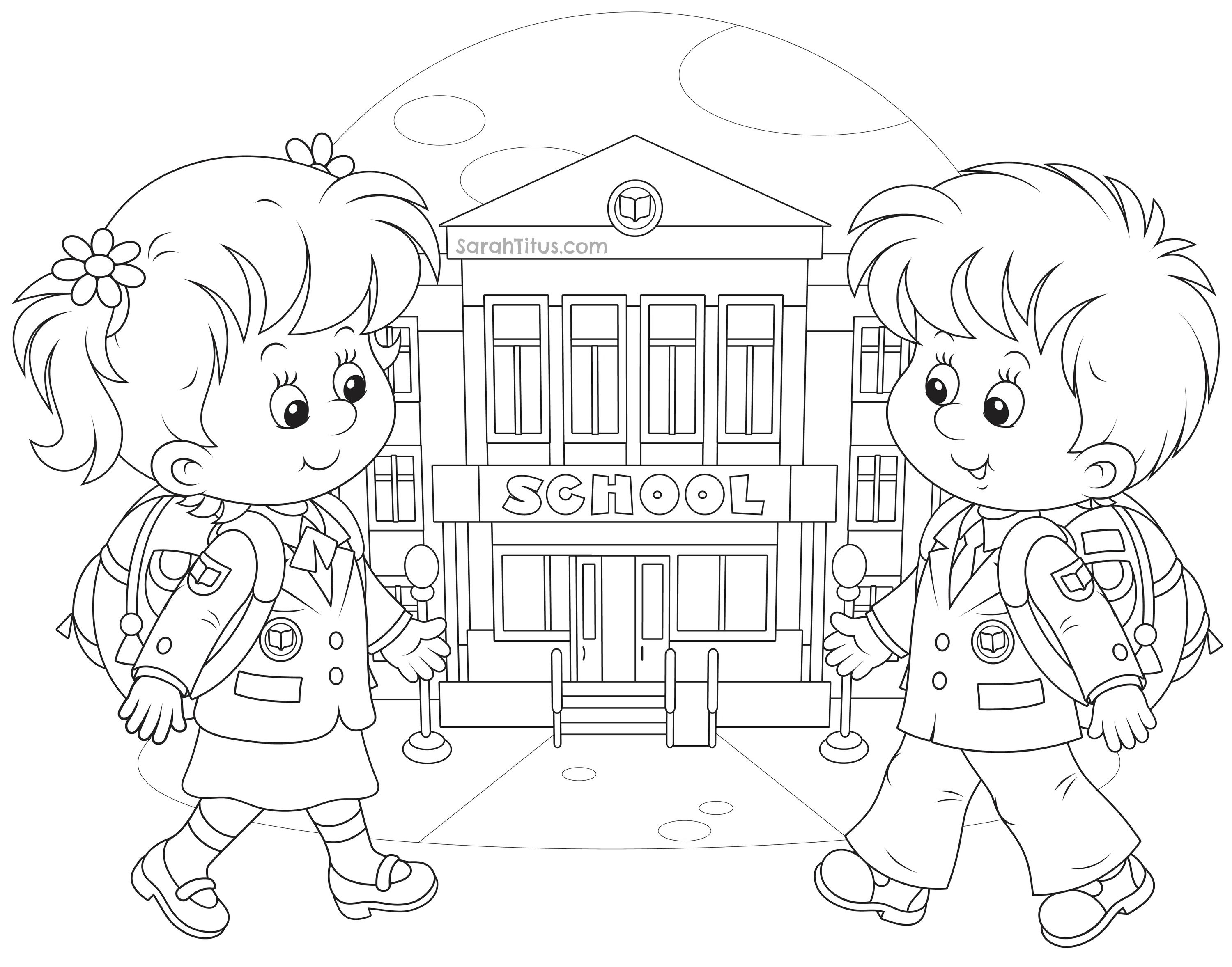 Back to School Coloring Pages | Pinterest | School colors, School ...