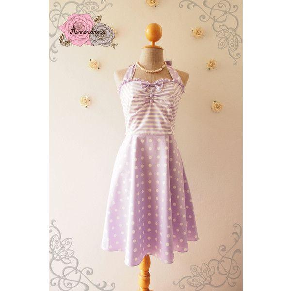 4e58d2eb9245 The Circus Party Dress Pastel Purple Dress Lavender Dress Halter Dress...  ( 52