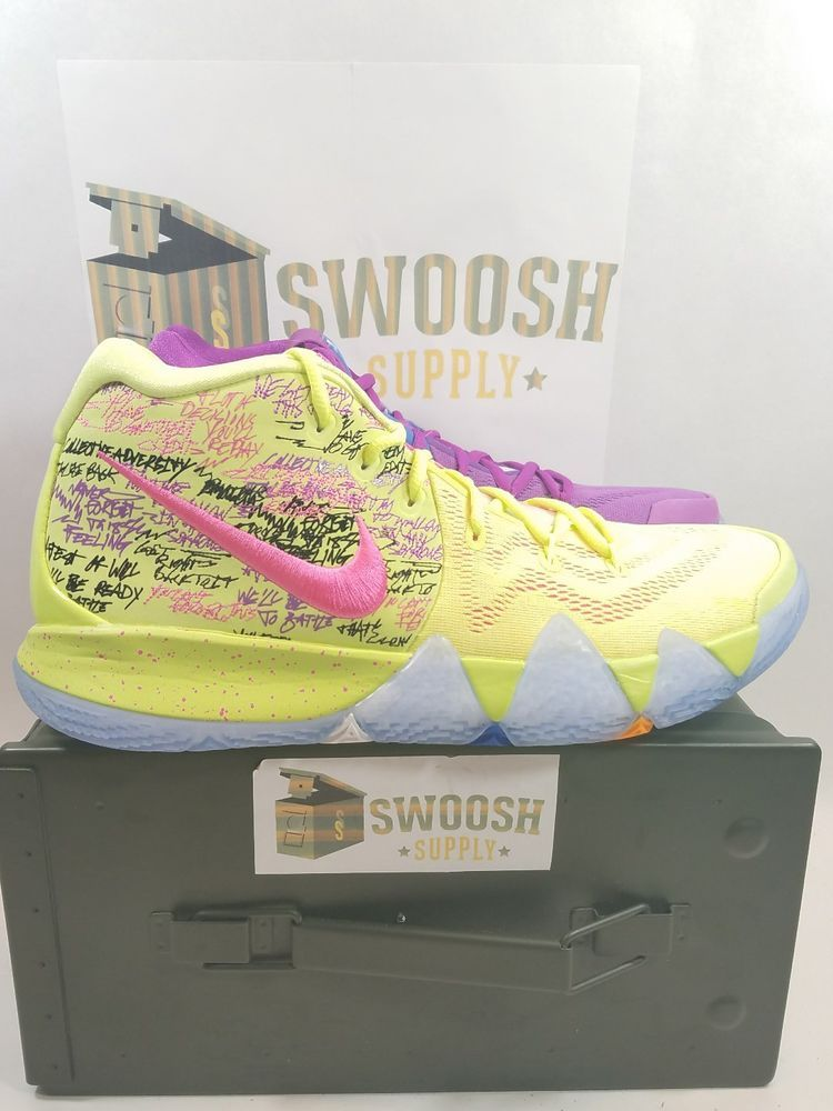 5555030e50d0 Nike Kyrie Irving 4 Confetti Basketball Shoes Air Zoom What The Size 10.5   Nike  BasketballShoes