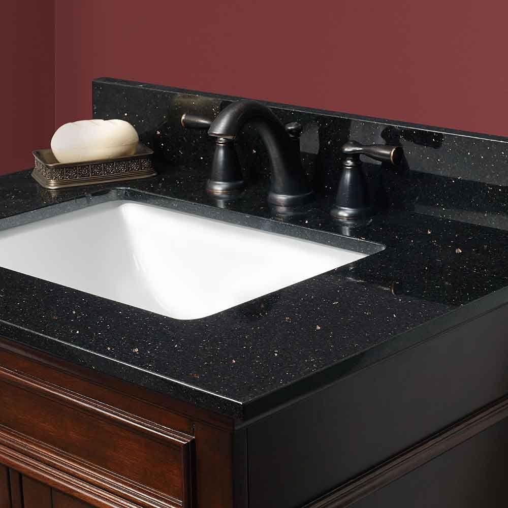 Black Galaxy Granite Vanity Tops Foremost Bath Bathroom Vanity