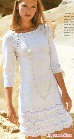 Вязание спицами горловина платья
