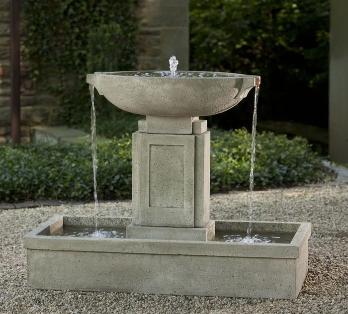 Austin Fountain Beautiful Urn Style Modern Fountain Complete With Copper Spillers With Images Garden Water Fountains Concrete Fountains Water Fountains Outdoor