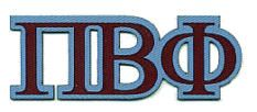 pi beta phi letters in our colors of maroon and blue