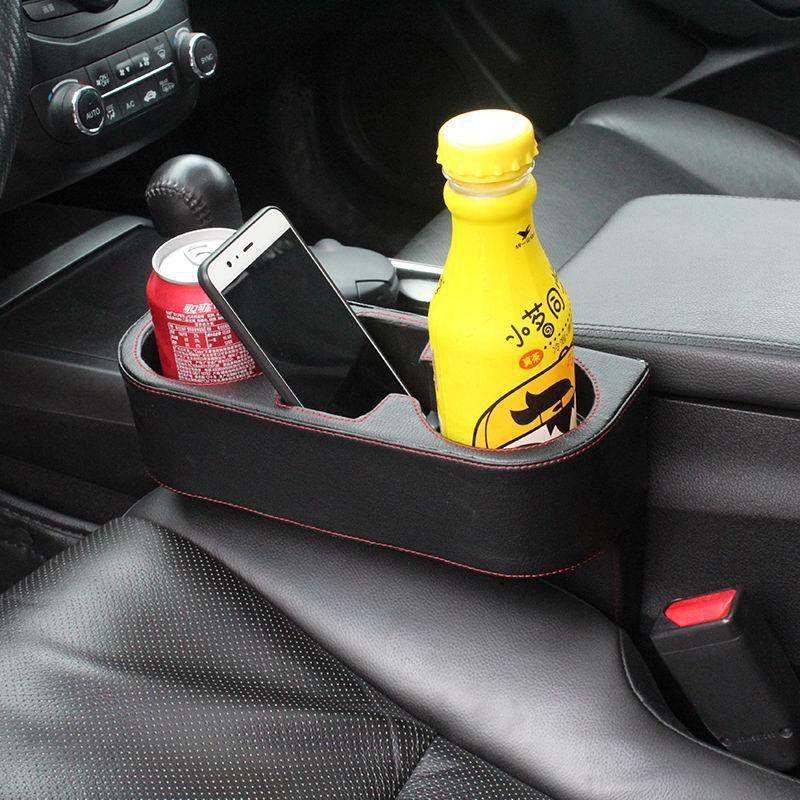 Leather Car Seat Storage Box Auto Seat Gap Pocket