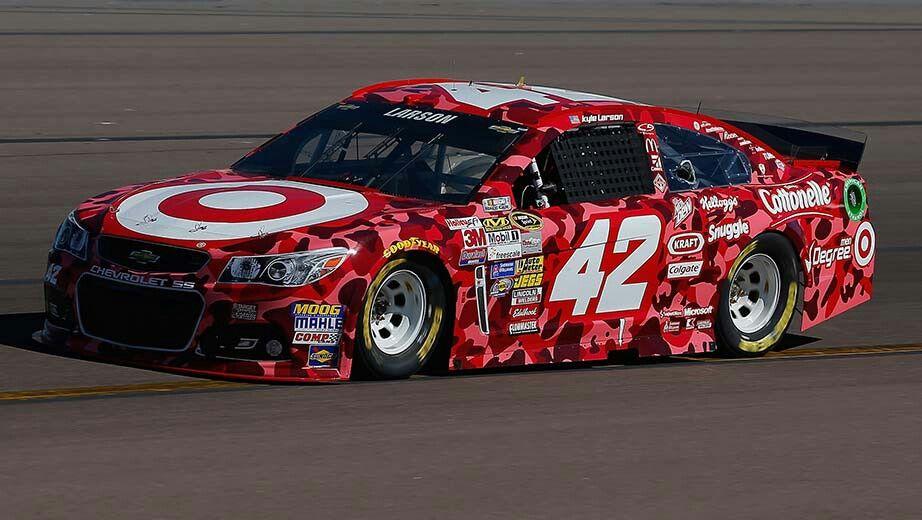 Kyle Larson 2014 Target Red Camo Nascar Race Cars Kyle Larson Nascar