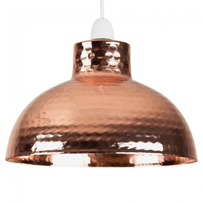 Vintage martillo hammered copper ceiling pendant shade iconic lights