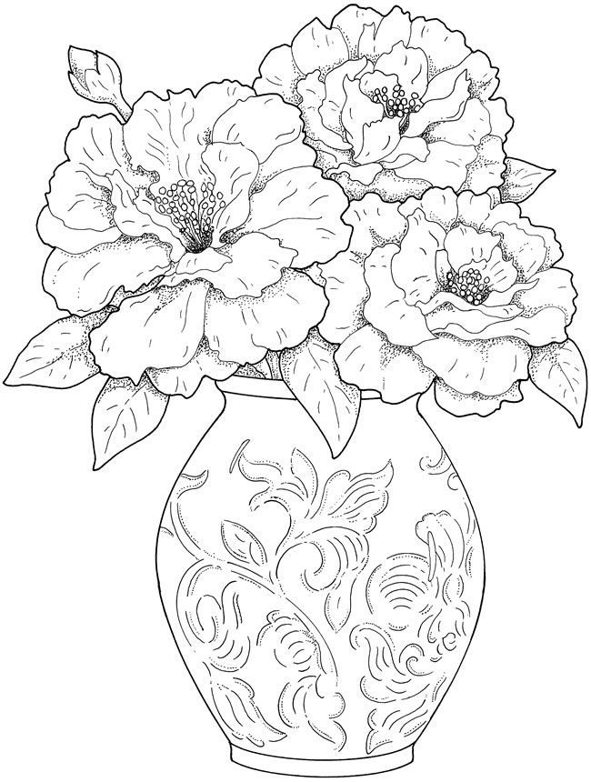 Creative Haven Beautiful Flower Arrangements Coloring Book pages ...