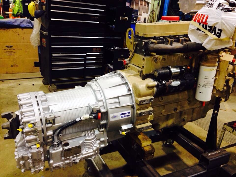 Cummins ISC 8 3 with mounted Allison Transmission | Ideas