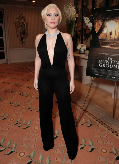 Lady Gaga Attends A Screening And Reception At The Peninsula Beverly Hills Of Doentary Hunting Ground Hotel On January 5 2016 In