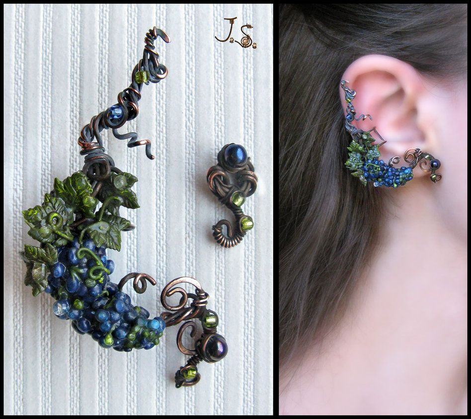 Grapevine ear cuff and stud by jsjewelryiantart on grapevine ear cuff and stud by jsjewelryiantart on deviantart baditri Choice Image
