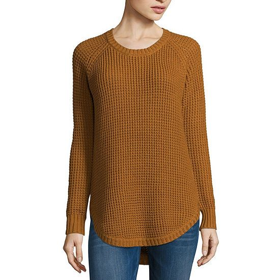 4e9c013a6 Arizona Long Sleeve Round Neck Pullover Sweater-Juniors - JCPenney ...