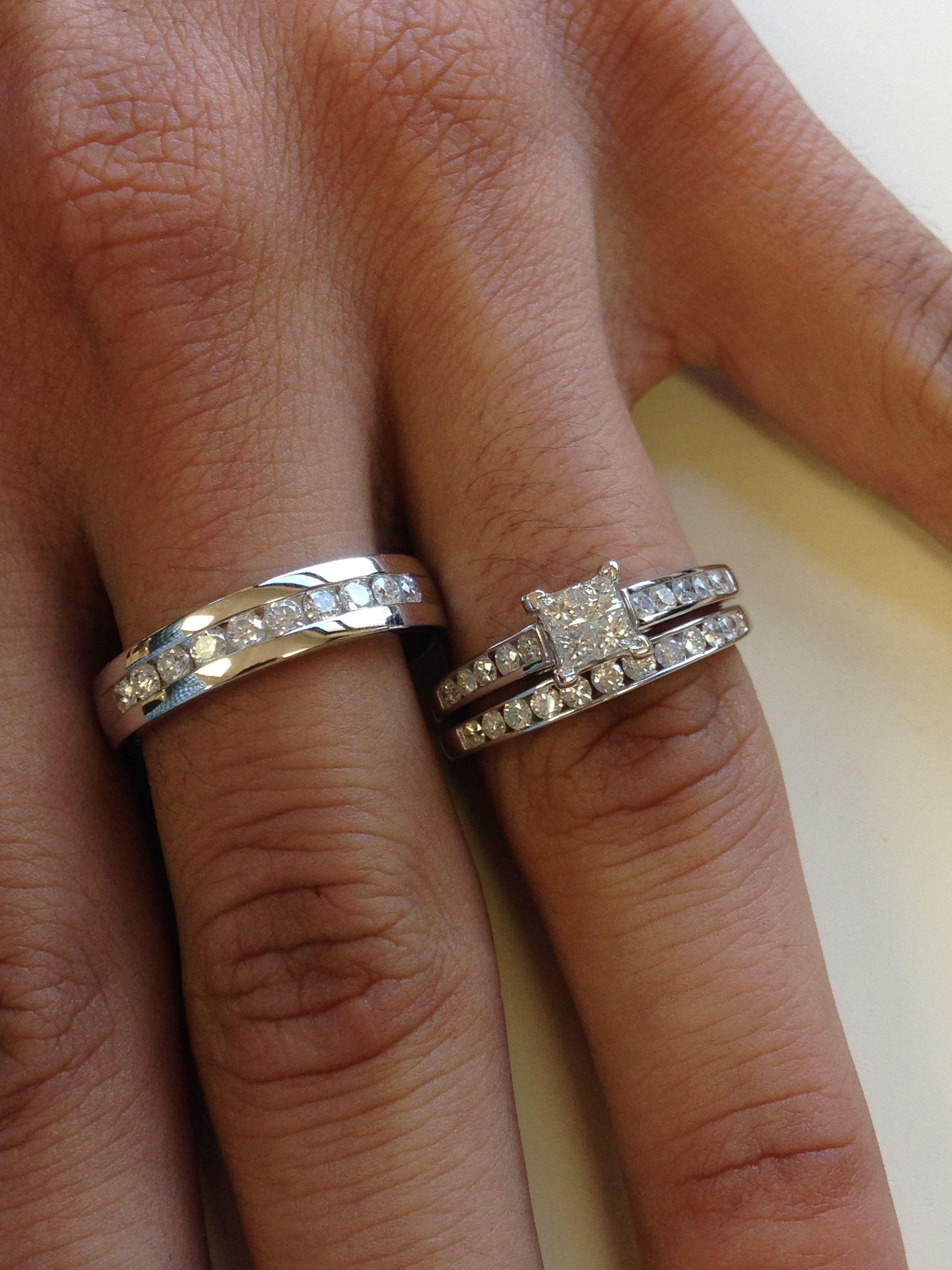 Rings On Hand Trio Ring Set Bt590w Engagement Ring Ladies