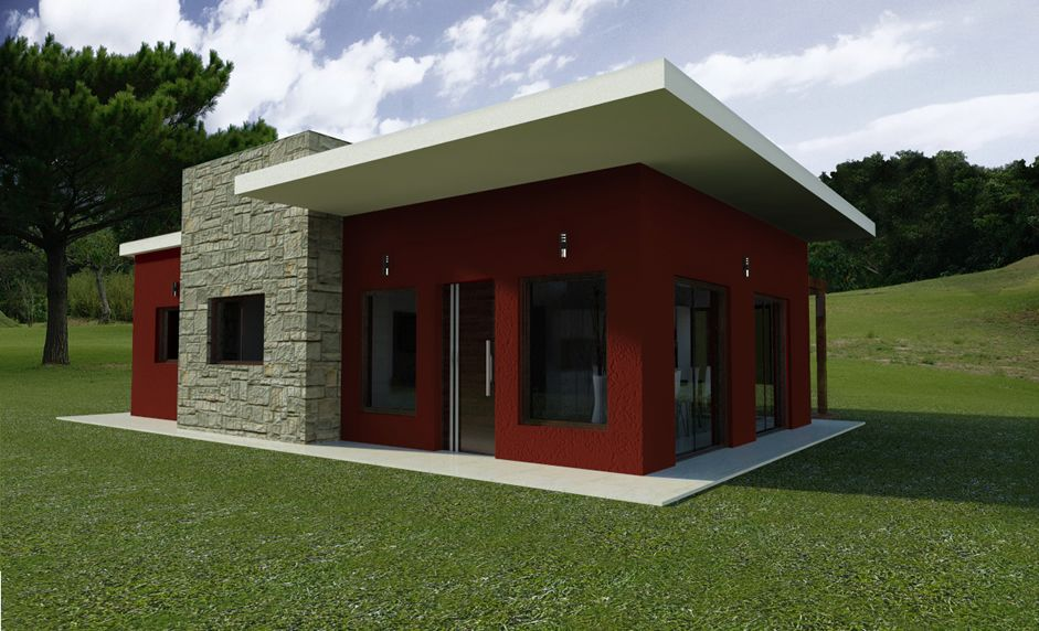 casas minimalista de un piso - Pesquisa Google Casas Pinterest