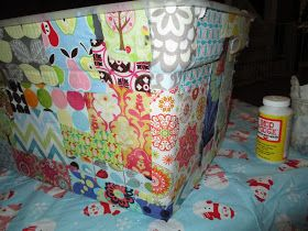 The Dabbling Crafter: DIY Sunday: Mod Podge Toy Box