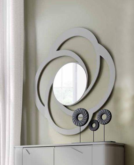 Espejos modernos espejo xivalpa espejo decorativo redondo for Espejos grandes decorativos