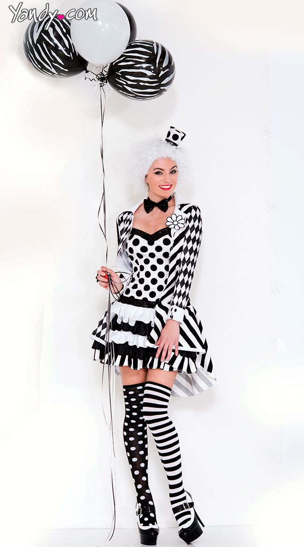 Black and White Clown Costume  sc 1 st  Pinterest & Black and White Clown Costume | Costumes and Ring leader costume
