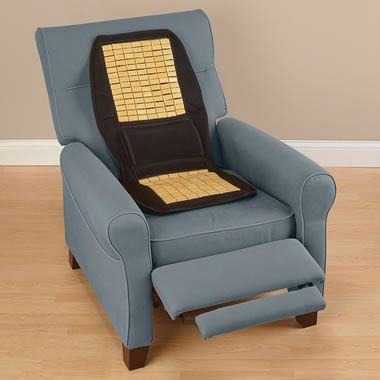 The Any Surface Heated Massaging Seat Cushion - Hammacher Schlemmer
