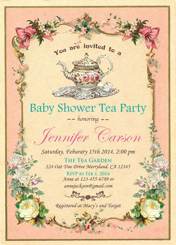 Elegant baby shower tea party invitation by thepaperwingcreation elegant baby shower tea party invitation by thepaperwingcreation filmwisefo