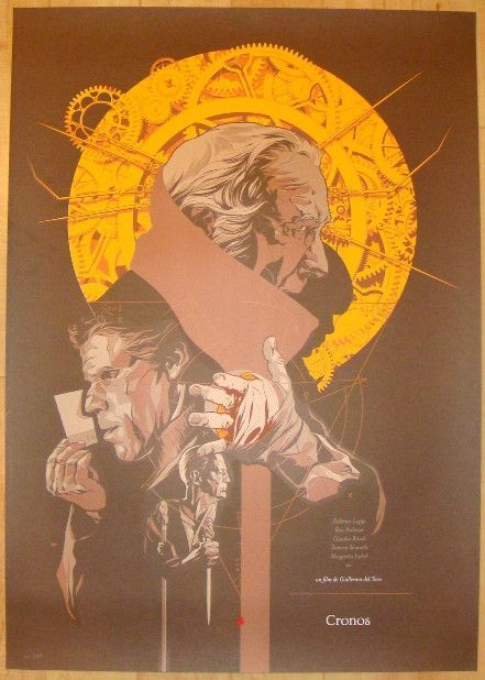 "2011 ""Cronos"" - Variant Silkscreen Movie Poster by Martin Ansin"