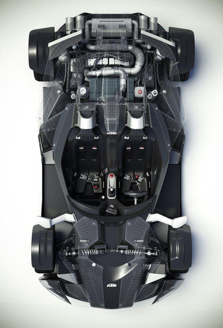 Ktm X Bow Engine Top View By Mukkelkatze On Deviantart Ktm Concept Car Design Engineering