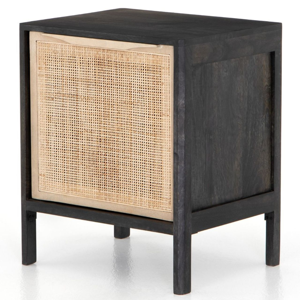 Sydney Woven Cane Nightstands - Black in 2020 | Coastal ...