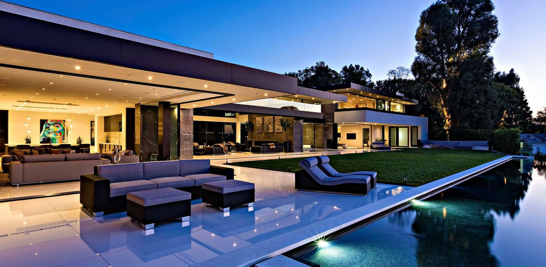 55 million bel air luxury residence 864 stradella road for Luxury home designs usa