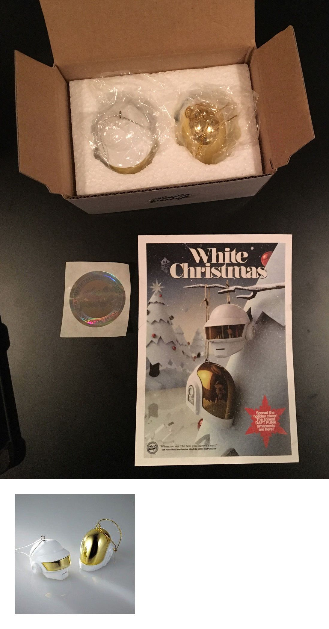 Christmas Decorations Daft Punk Limited Edition White And Gold