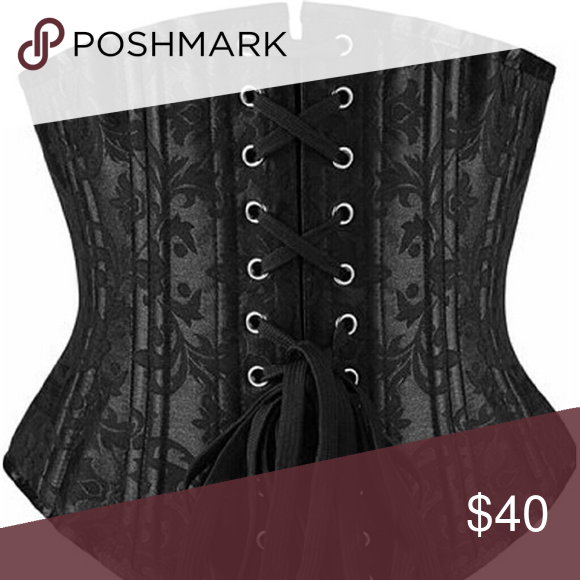 2xl corset Steel bones, ask black absolutely beautiful, underbust, & brand new Other