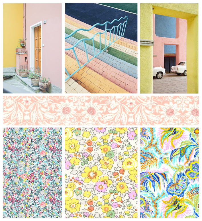 Pastel Colour inspiration - Liberty Fabric - The Strawberry Thief Love Liberty Quilt Tutorial