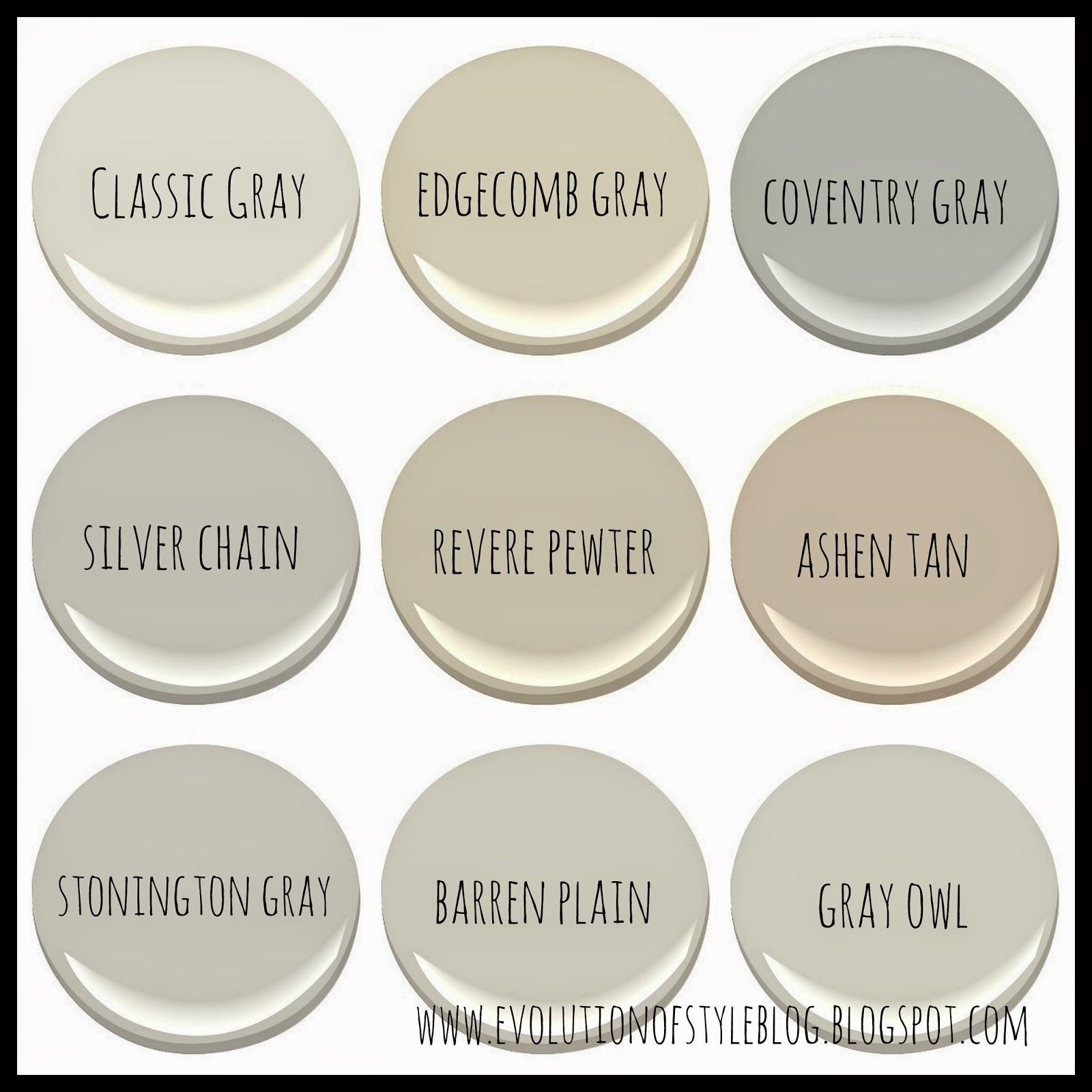 Evolution of style benjamin moore 39 s best selling grays for Popular gray paint colors