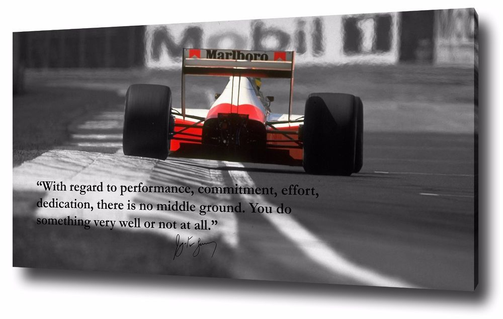 Ayrton Senna Canvas Print Poster Wall Art Print F1