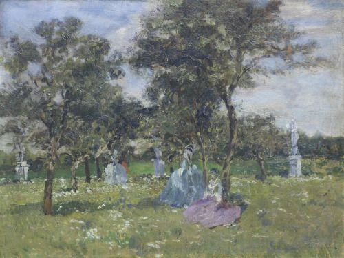 Ladies Resting in the Shade Emma Ciardi 20th century