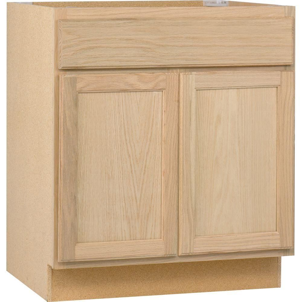 30x34 5x24 In Base Cabinet In Unfinished Oak B30ohd The Home Depot Need One For The Laundry Room Kitchen Base Cabinets Base Cabinets Oak Kitchen Cabinets