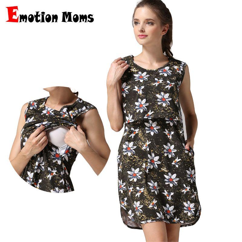 1a3cf28cf7465 Emotion Mom Maternity clothes Maternity Dress Nursing Clothing  breastfeeding dresses for Pregnant Women Summer Nursing dresses