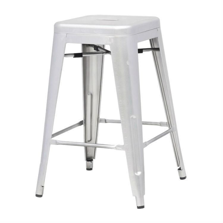 Indoor Outdoor Backless Stacking Counter Height Bar Stool In