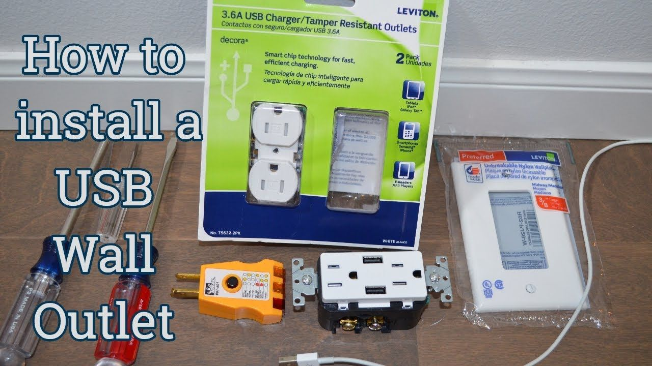 How to Install a USB Wall Outlet Remove an old electrical outlet