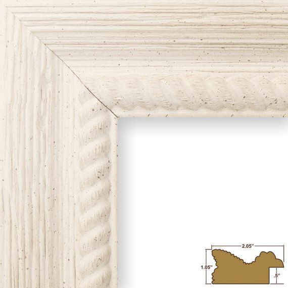 Craig Frames 24x36 Inch Rustic Off White Picture Frame Barnwood Ornate 778459012436