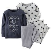 Note: To help keep children safe, cotton pjs should always fit snugly. She'll sleep tight in cute mix-