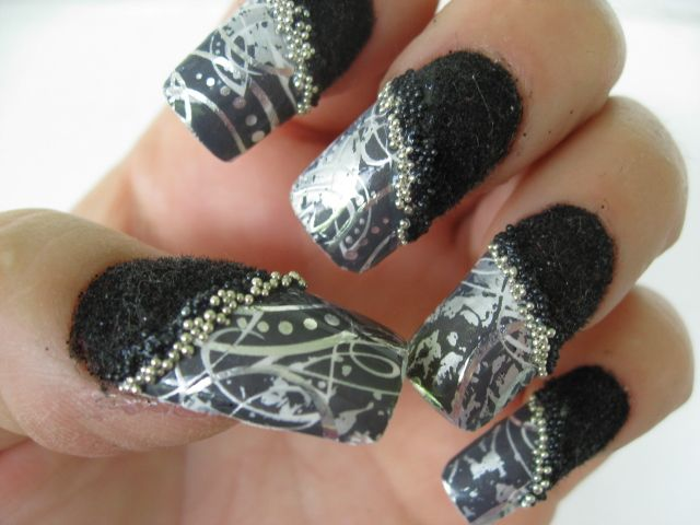 Velvet And Caviar And Mystique In Wicked Nail Monochrome Nails