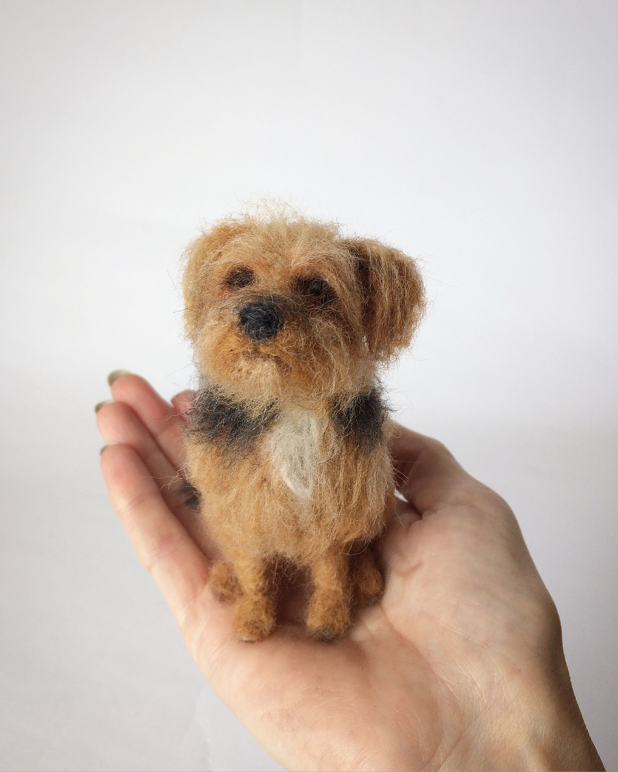 Needle Felted Yorkshire Terrier Dog Sculpture With Images