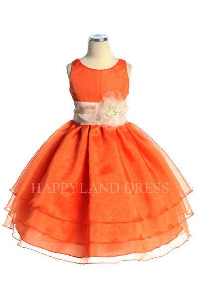 2e3b33bcc D574 Organza Flower Sash Dress (20 Diff. Colors) – Happy Land ...