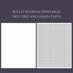 photograph about Printable Bullet Journal Paper known as Bullet Magazine Dot Grid and Graph Paper Printables