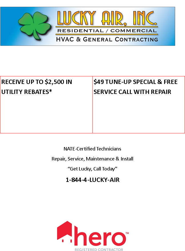 Specials Lucky Air Inc Commercial Hvac Energy Efficient