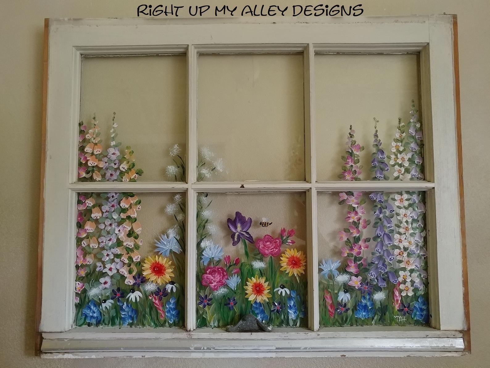 Painted window ideas from custom orders, Window pane art ideas ...