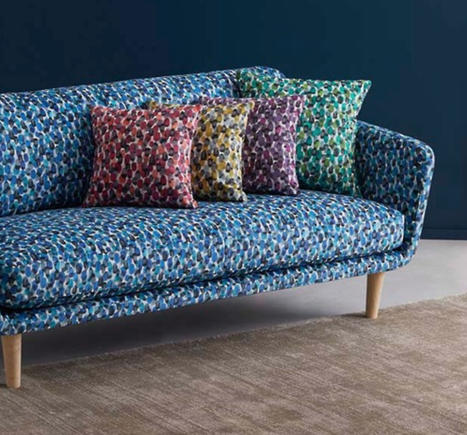 It S Time To Indulge The Senses With Lenora A Bold Fabric With A Luxe Contemporary Feel Hand Painted In Th Warwick Fabrics Upholstery Fabric Furniture Fabric