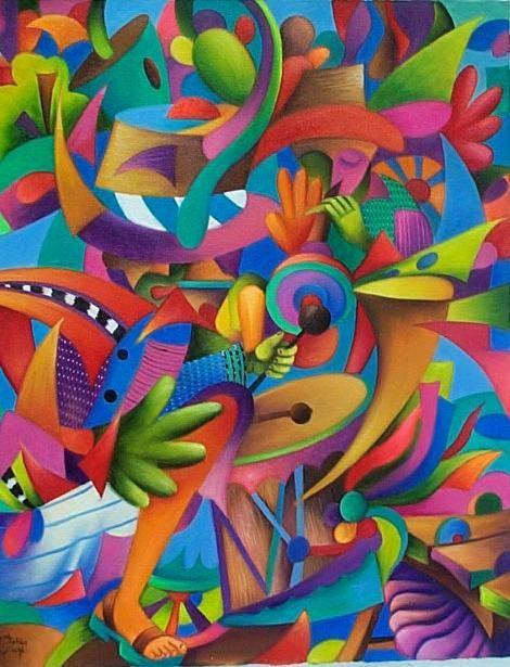 Julian Coche Mendoza Painting Guatemala Art Arte Colorido Arte
